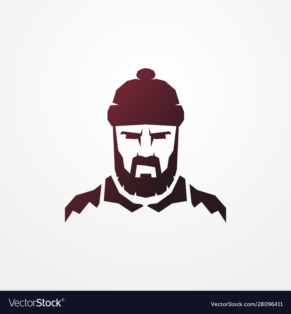 Bearded lumberjack worker man logo image