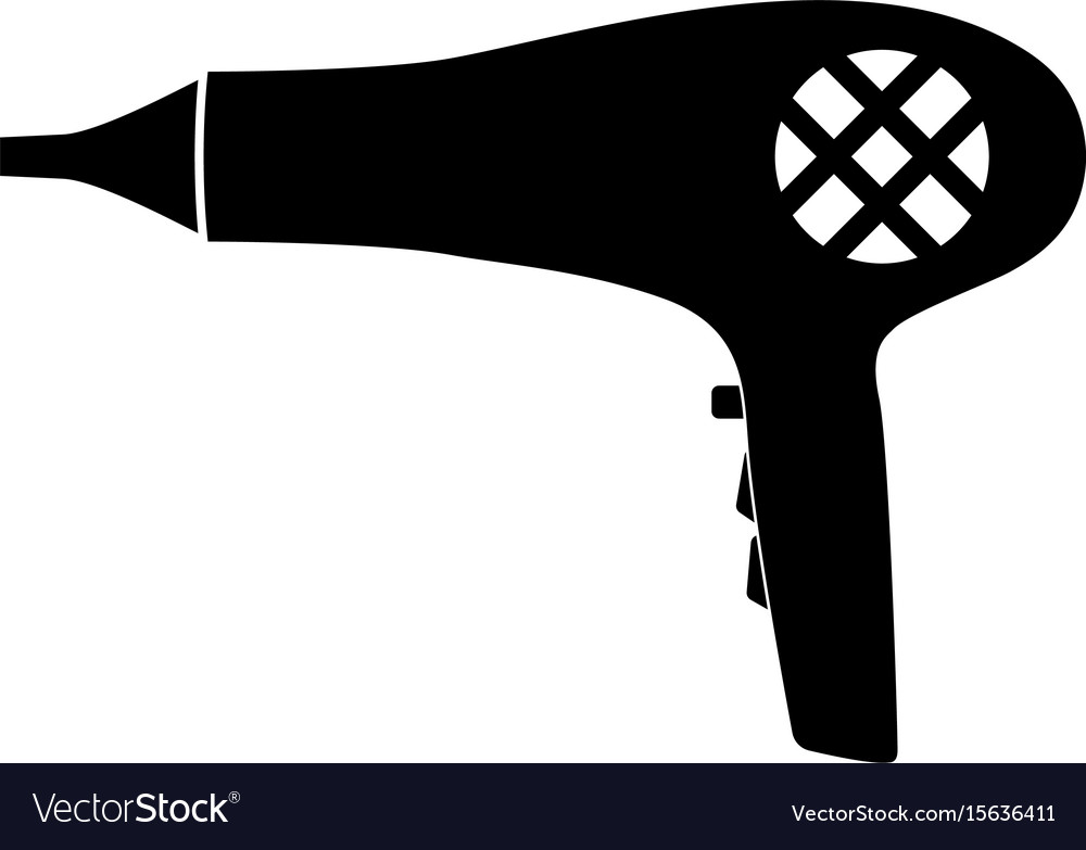 Blow dryer hair dryer the black color icon