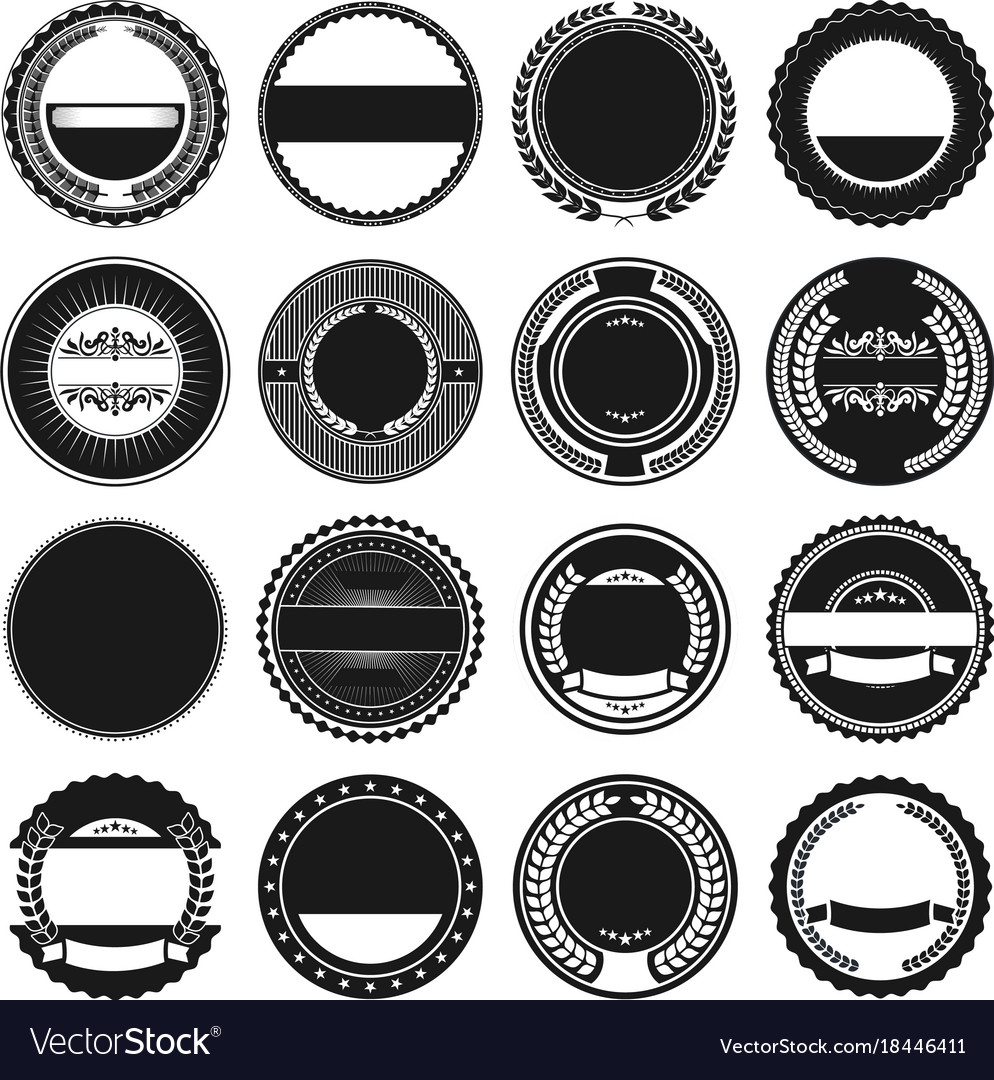 Marvelous Collection Of Round Border Frames Vector Image