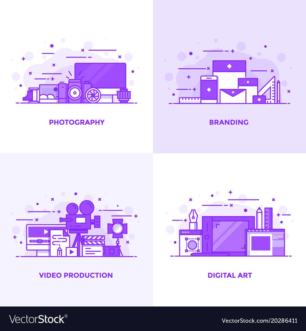 Flat line purple designed concepts 3