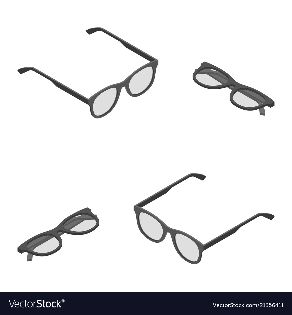 Isometric eyeglasses retro reading working