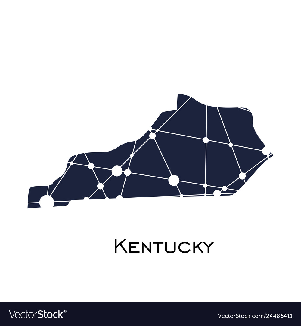 Kentucky state map vector image on black kentucky map, funny kentucky map, cartoon kentucky map, print kentucky map, 3d kentucky flag, 3d kentucky outline, 3d kentucky poster, hd kentucky map,