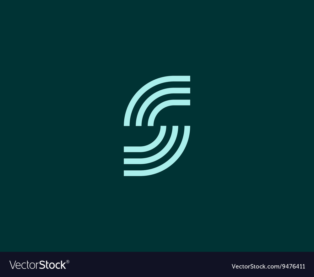 Line letter S logotype Abstract moving airy logo vector image