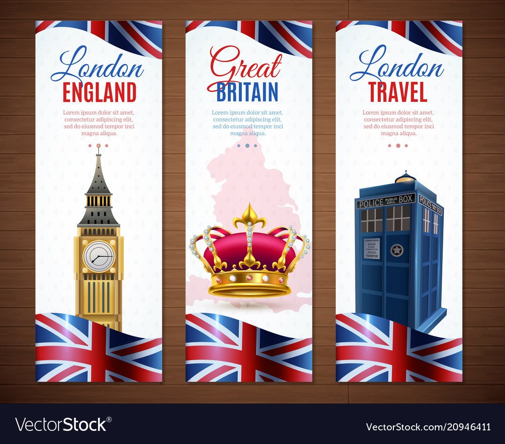 London vertical banners collection vector image
