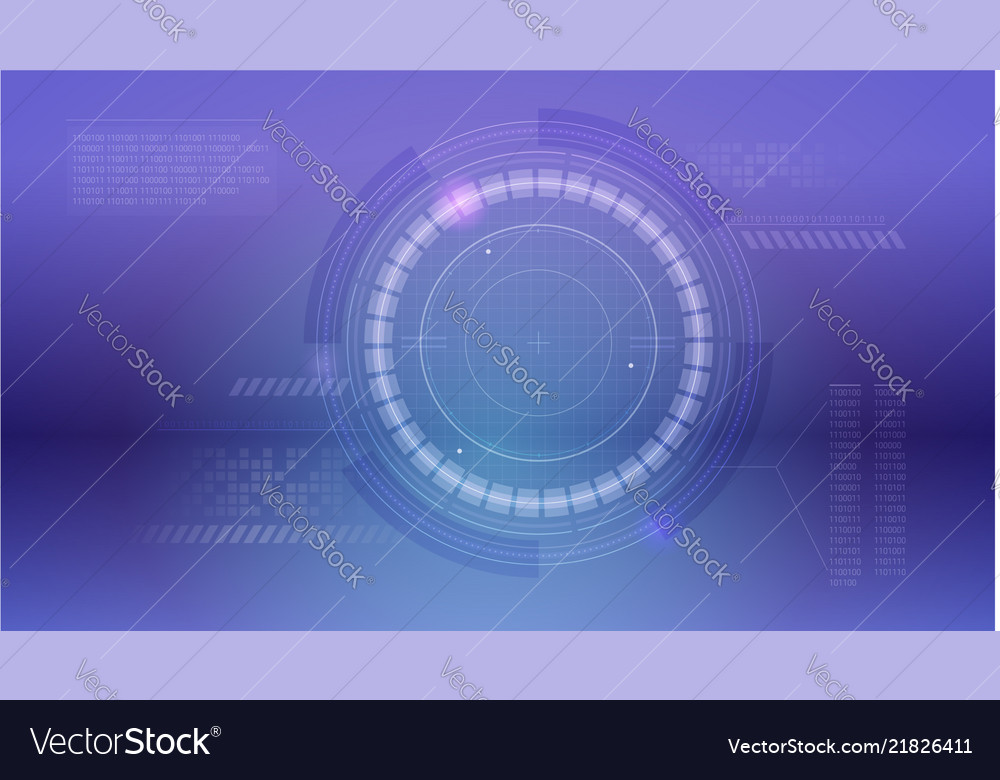 Radar layout sci-fi dashboard hud of cyberspace