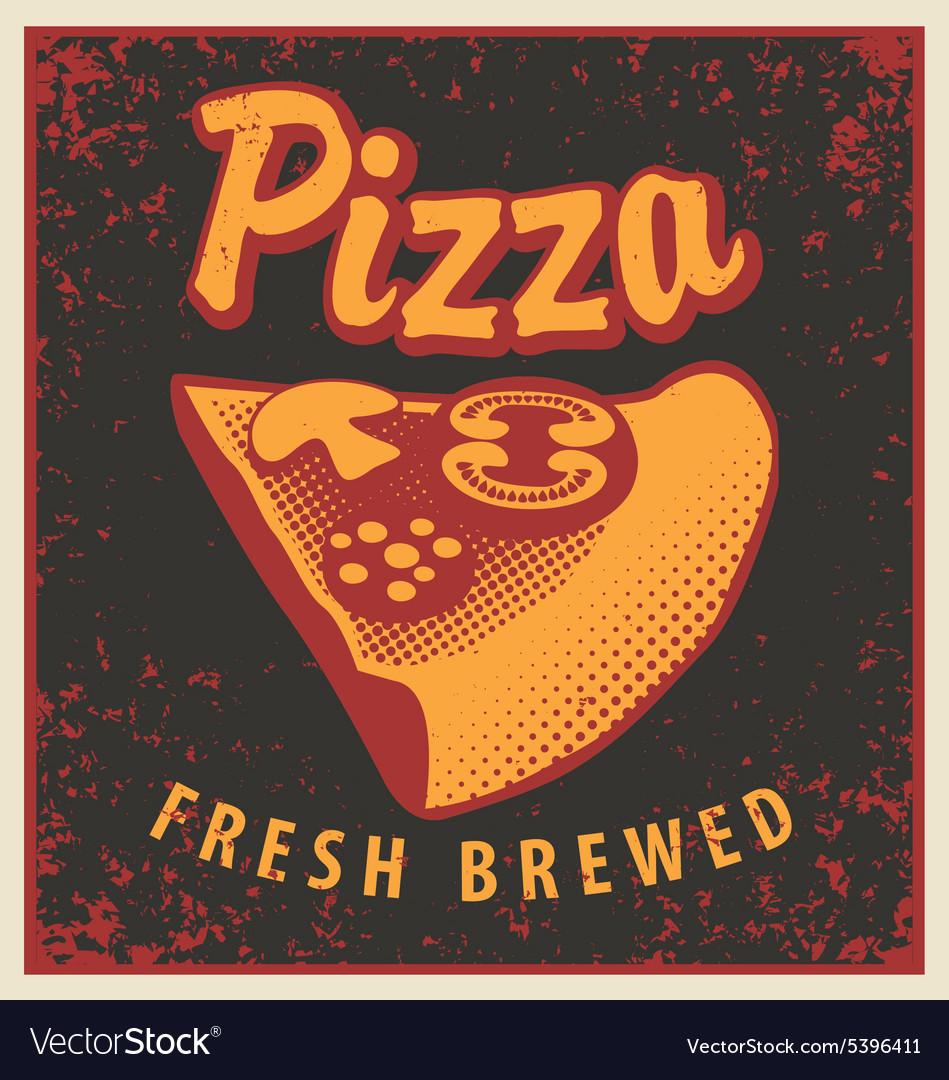 Retro Pizza vector image