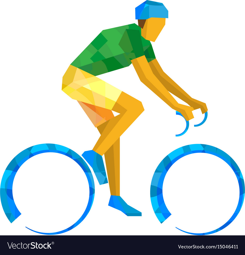 Road cycling cyclist on bicycle