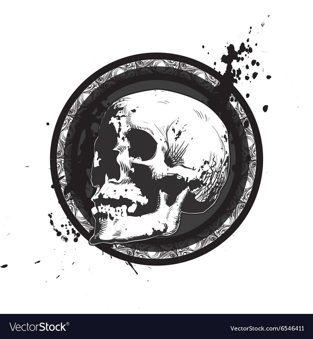 Sketchy Skull Emblem