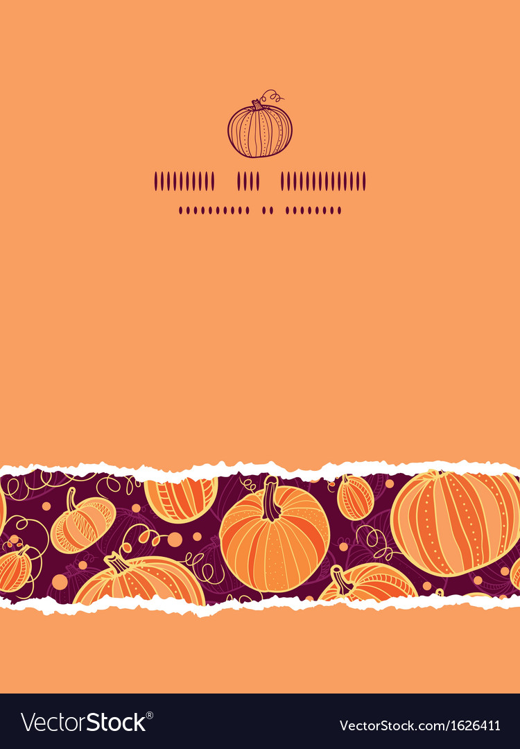 Thanksgiving pumpkins vertical torn seamless