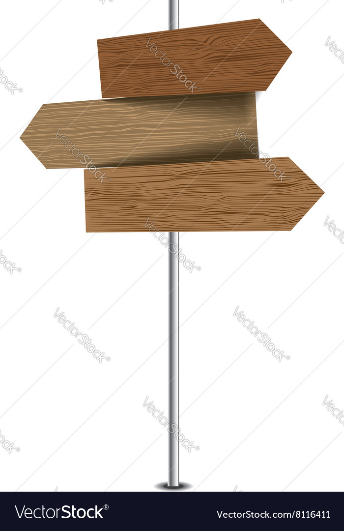 Three wooden pointers vector image