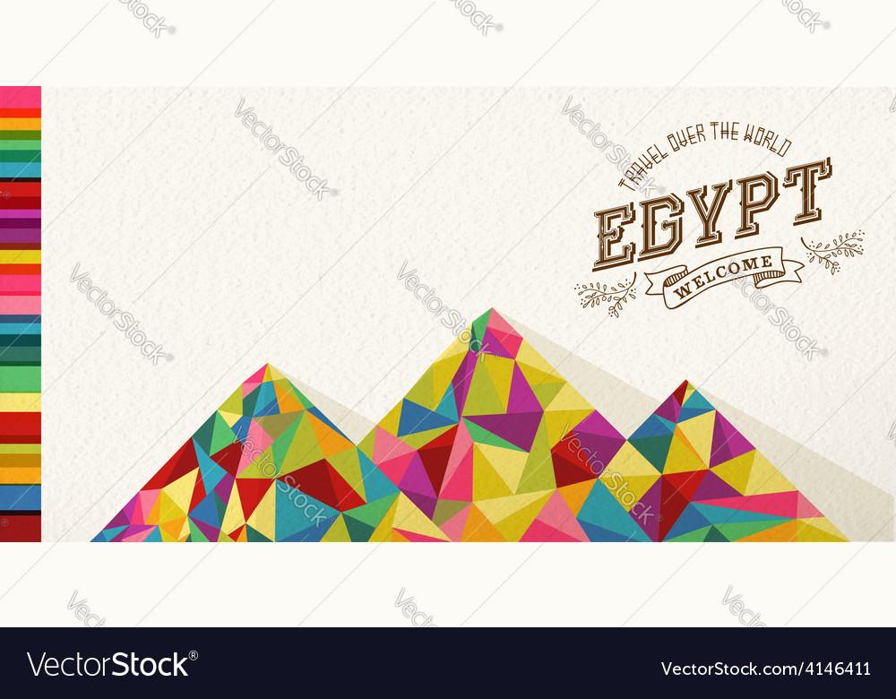 Travel Egypt landmark polygonal monument
