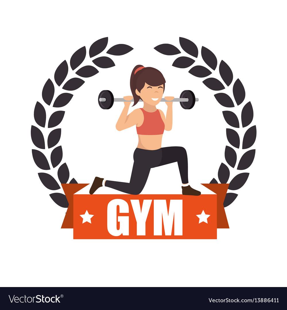 Woman athlete avatar icon