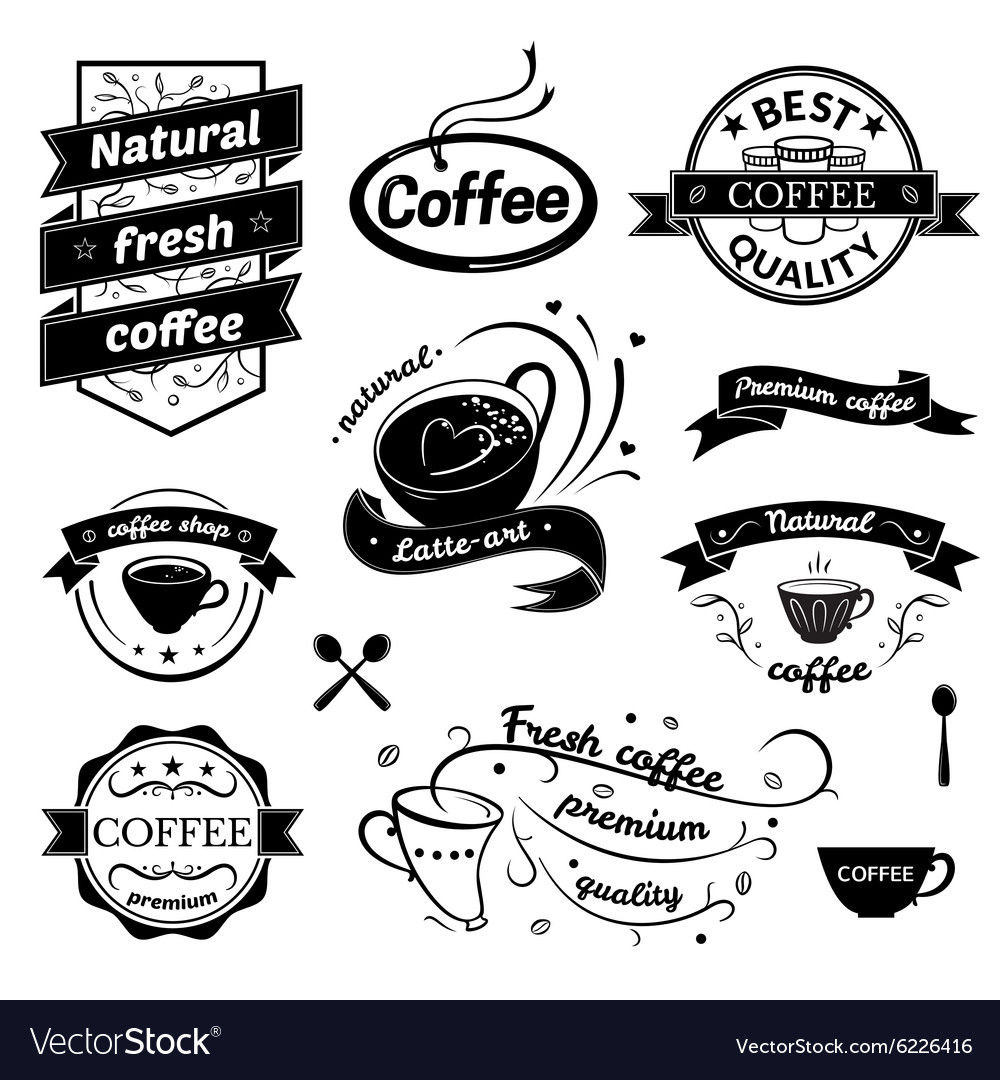 Coffee signs set