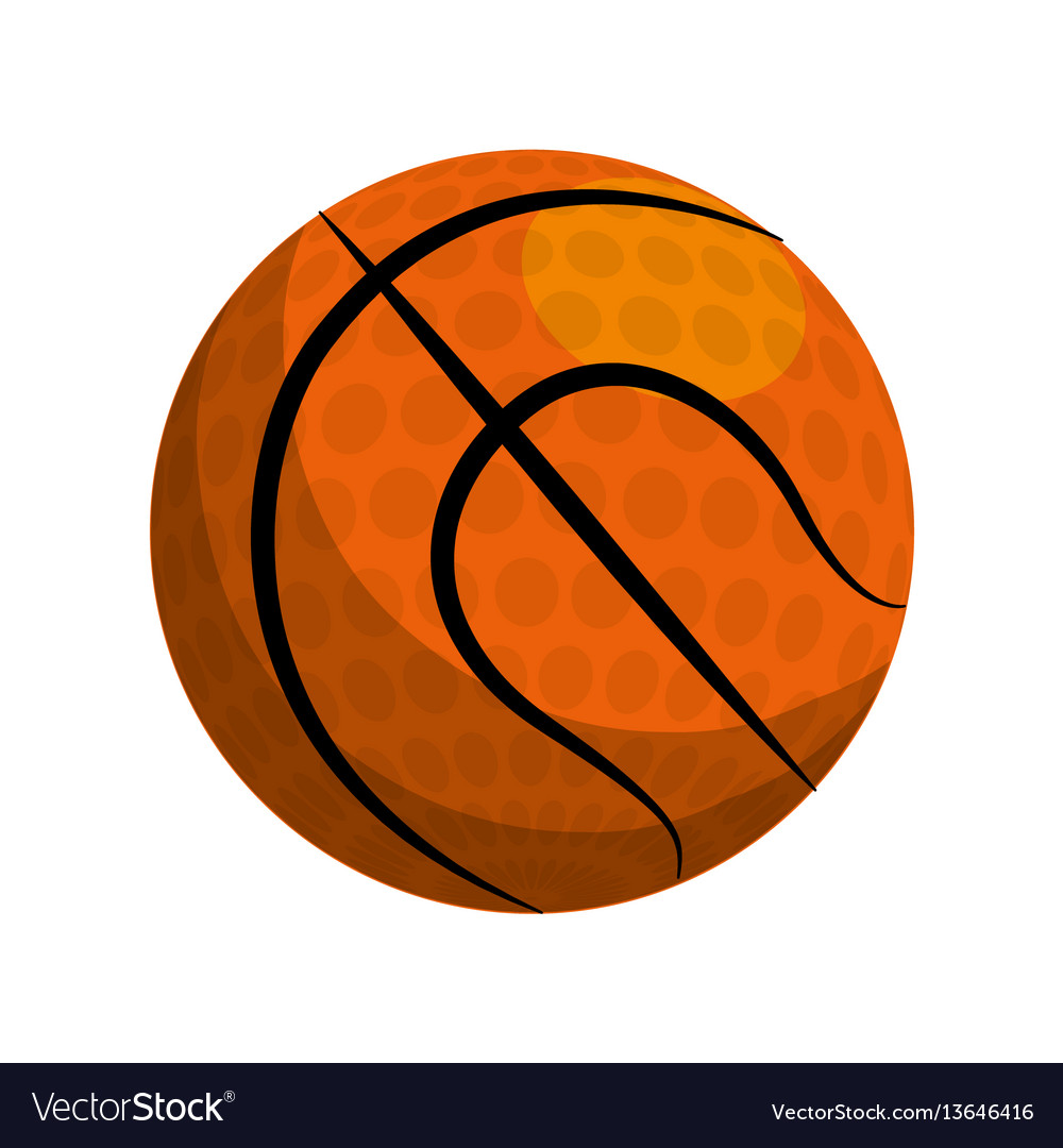 Color ball to play basketball icon