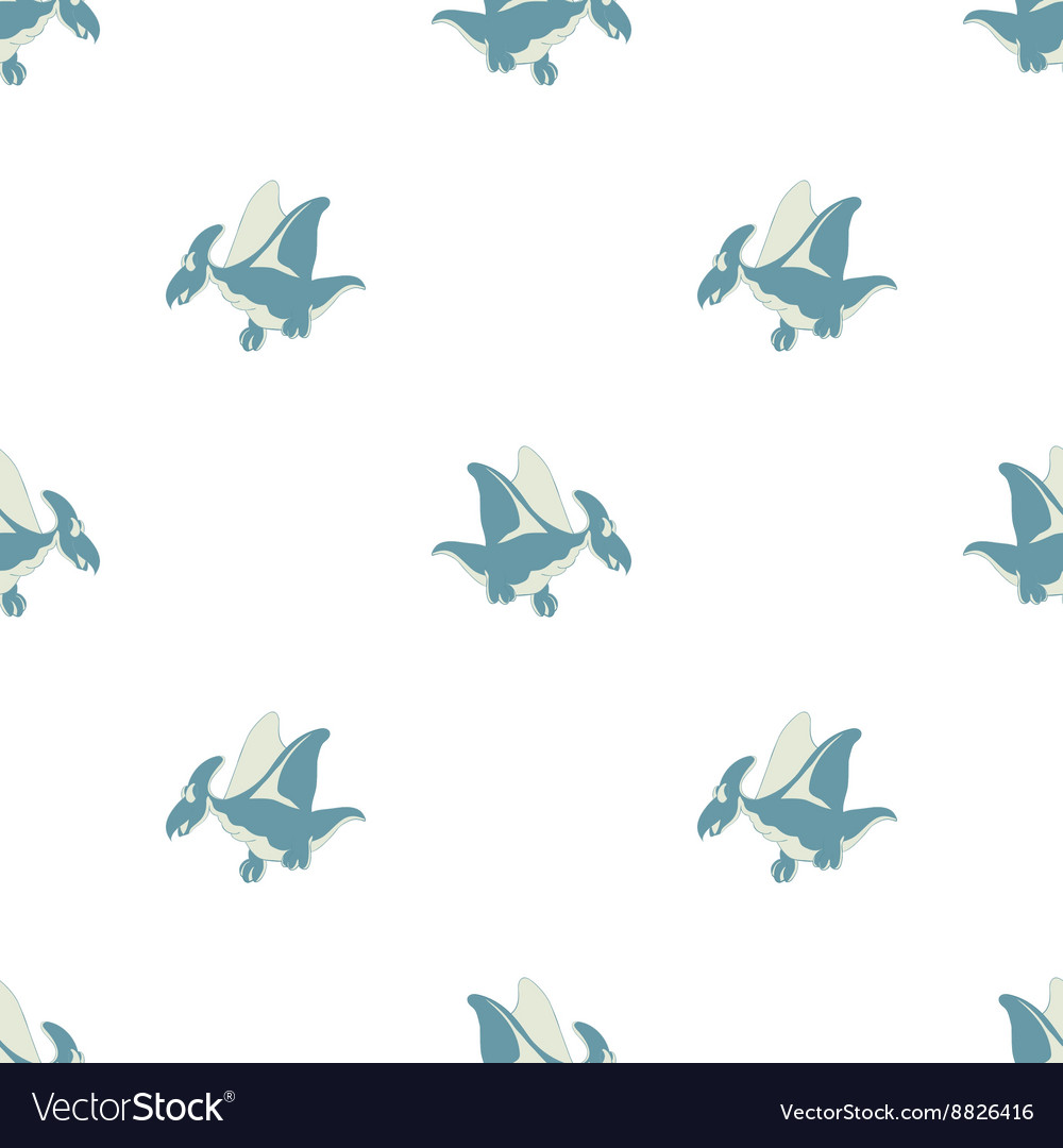 Flying dinosaur on a white background