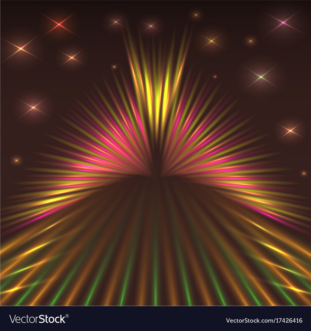 Laser abstract background with stars