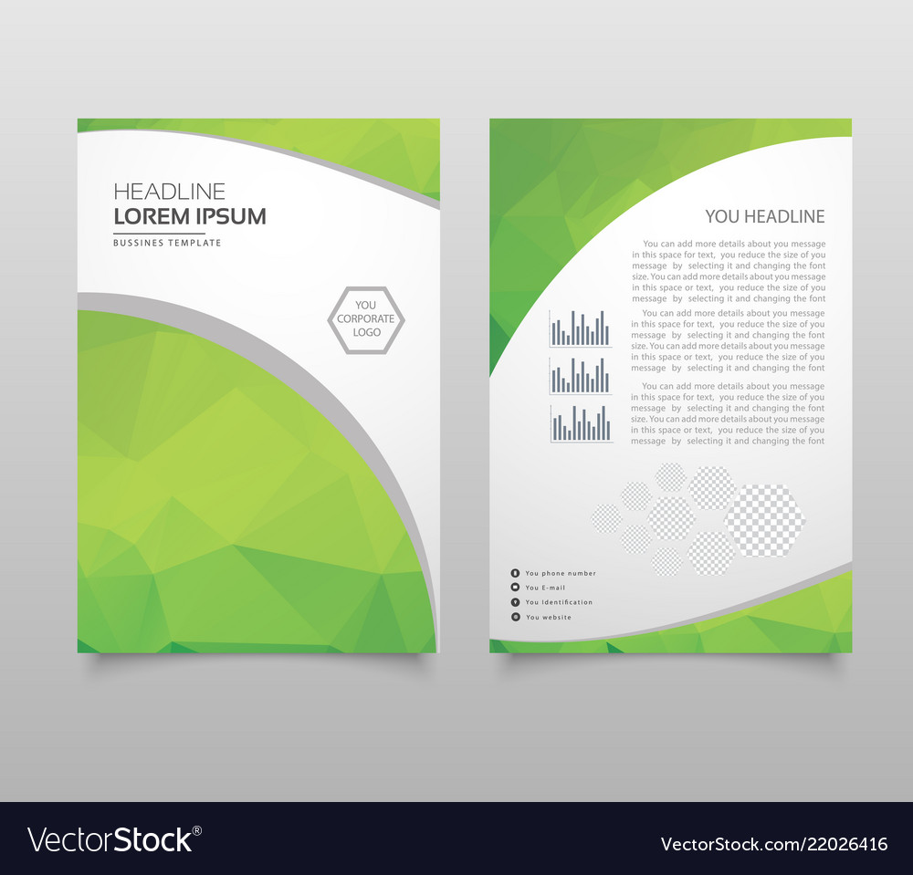 Modern brochure layout flyer and cover design