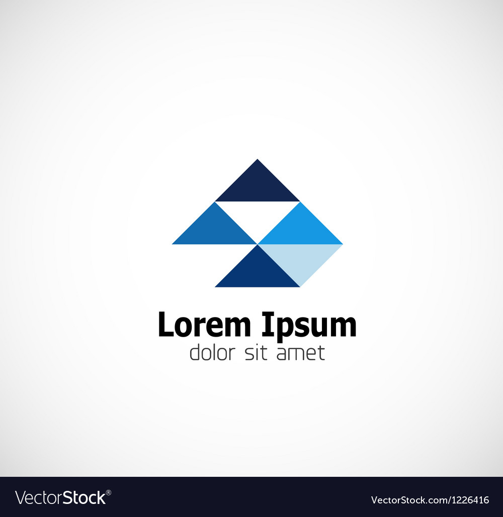 Modern triangle abstract business symbol vector image