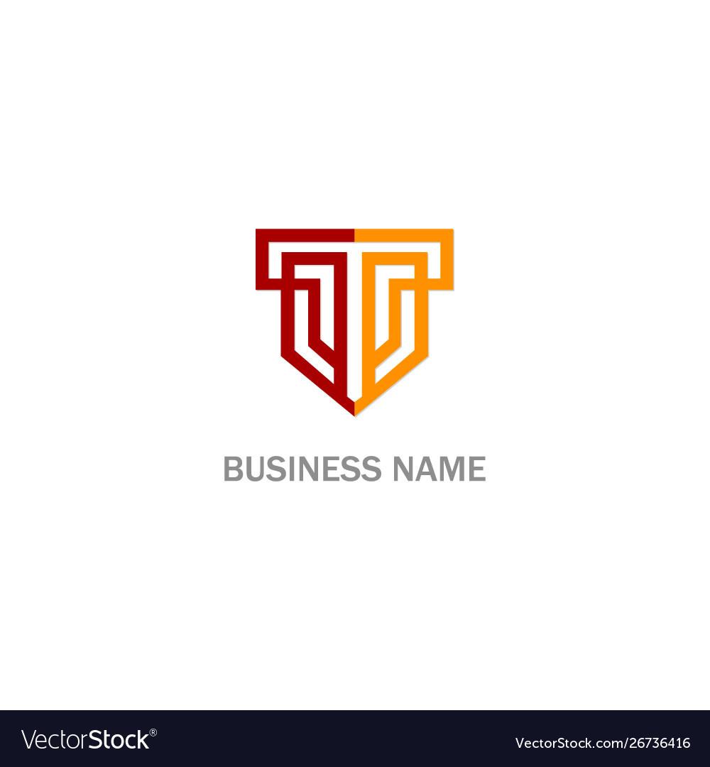 T initial shield company logo