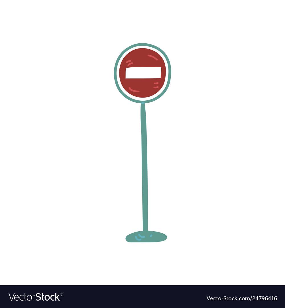 Warning road sign urban architecture design