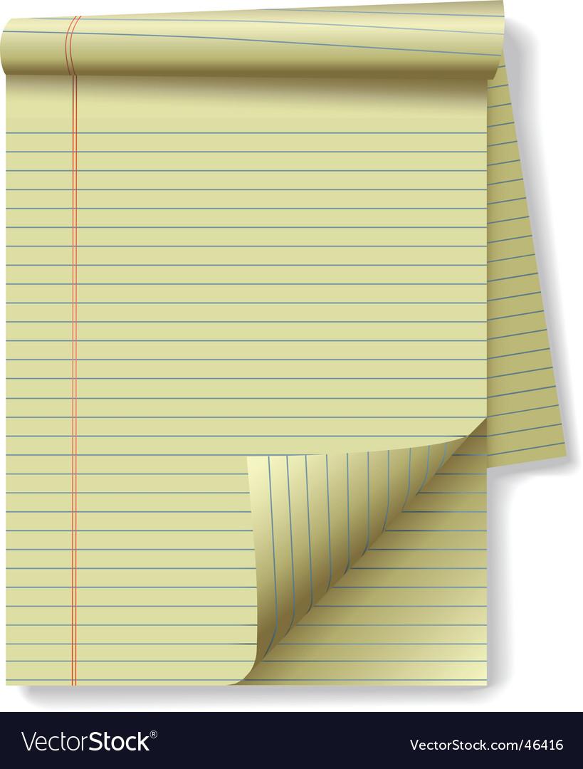 Yellow legal pad