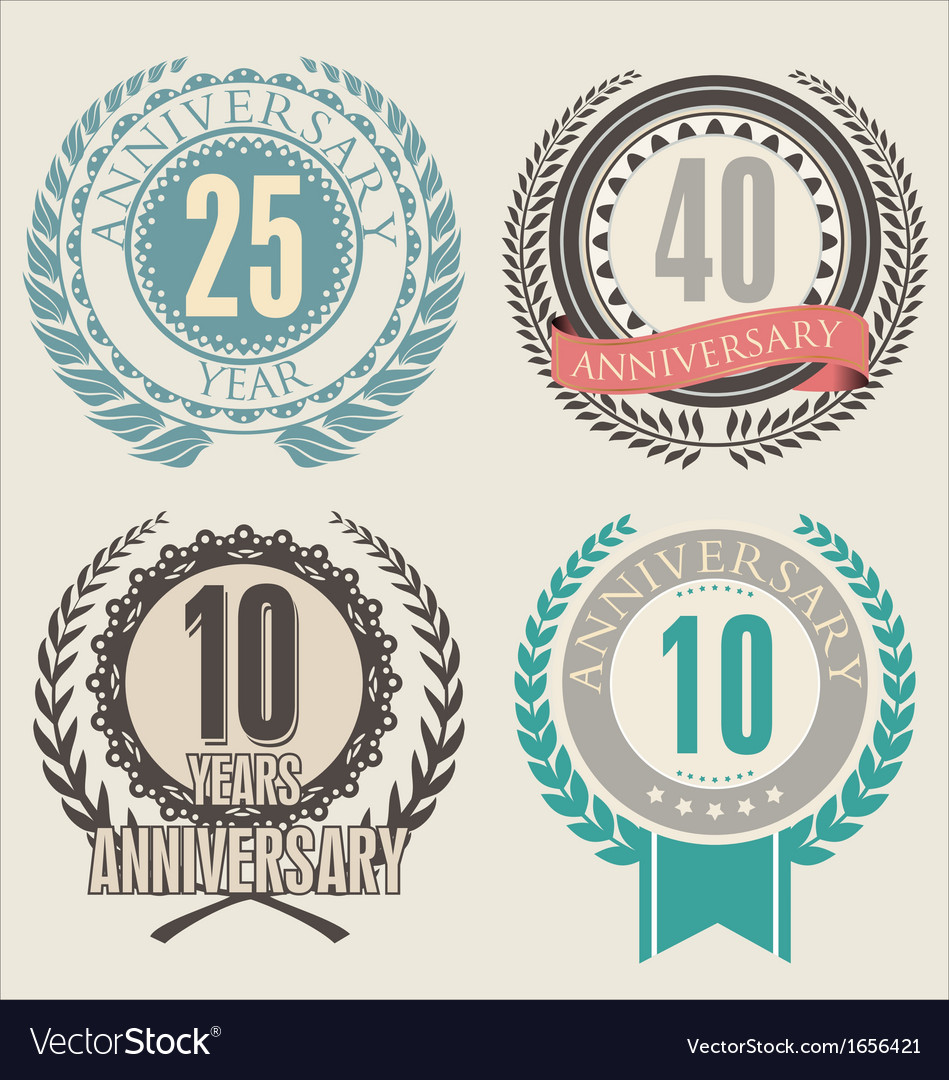 Anniversary laurel wreath vector image