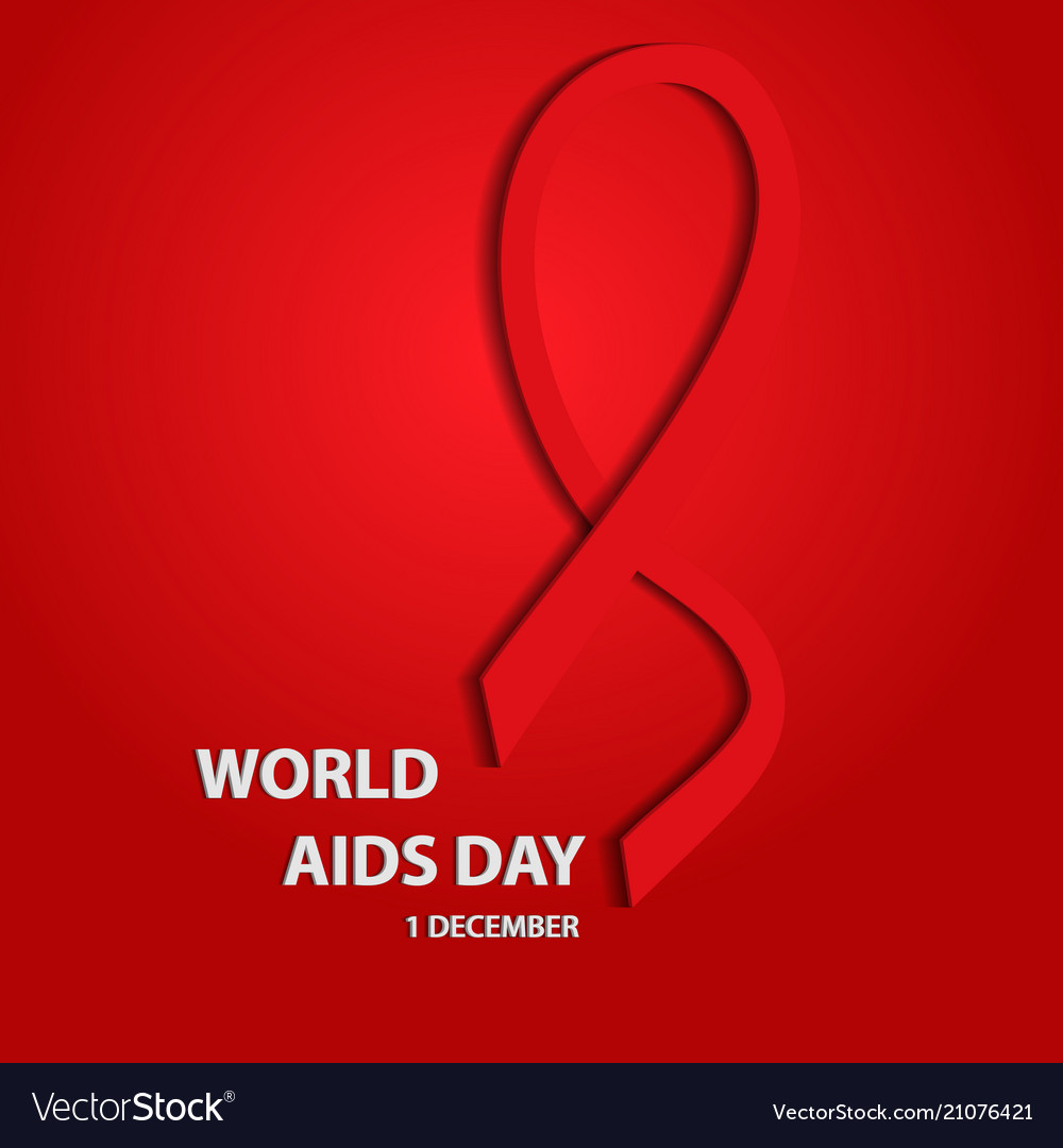 Awareness world aids day 3d concept eps10