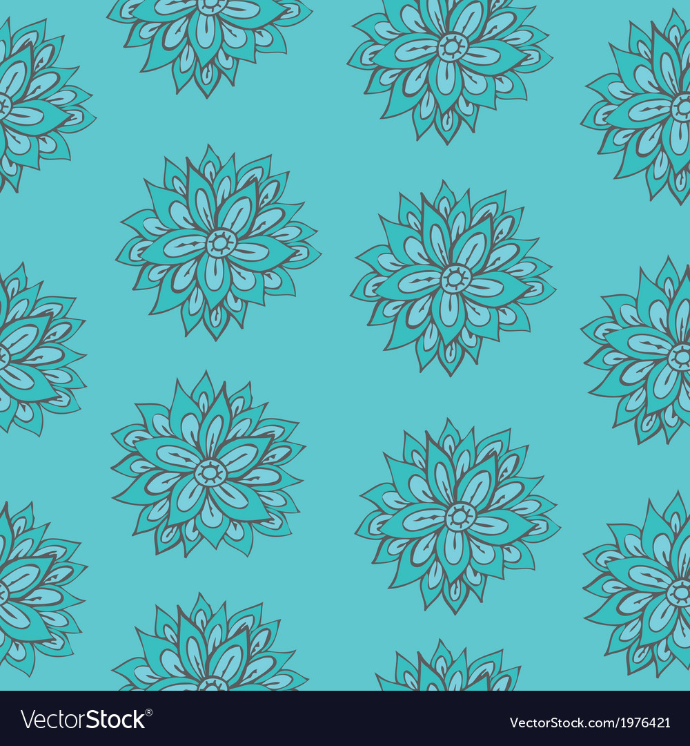 Bright floral seamless texture endless pattern vector image