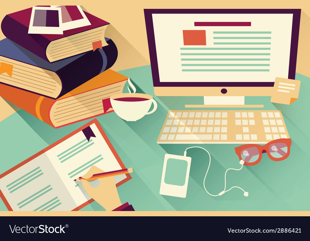 Cool Flat Design Objects Work Desk Office Desk Books Download Free Architecture Designs Ogrambritishbridgeorg
