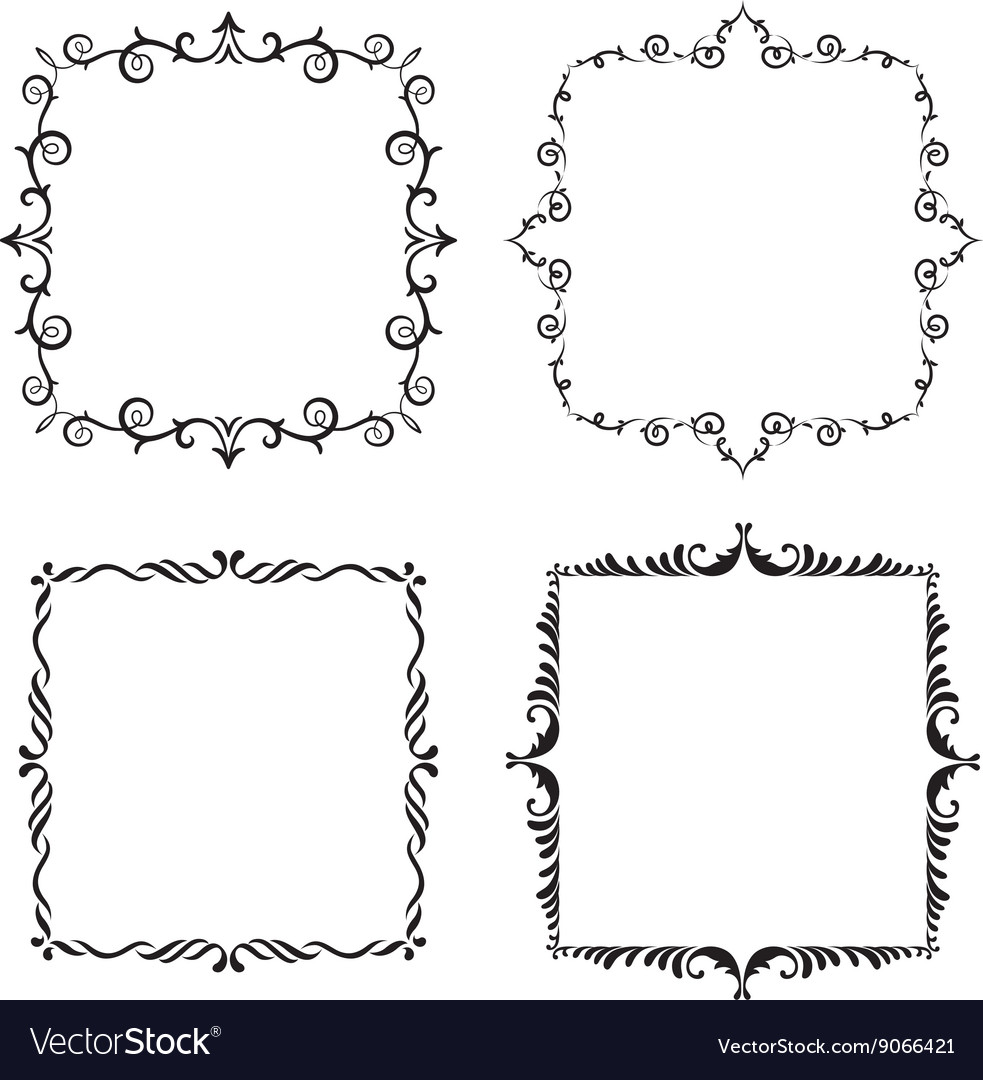 Graphic vintage frame Royalty Free Vector Image