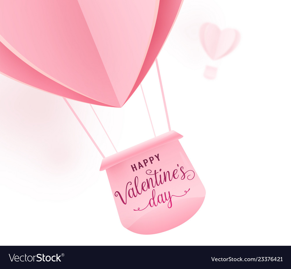 Happy valentines day design with paper cut