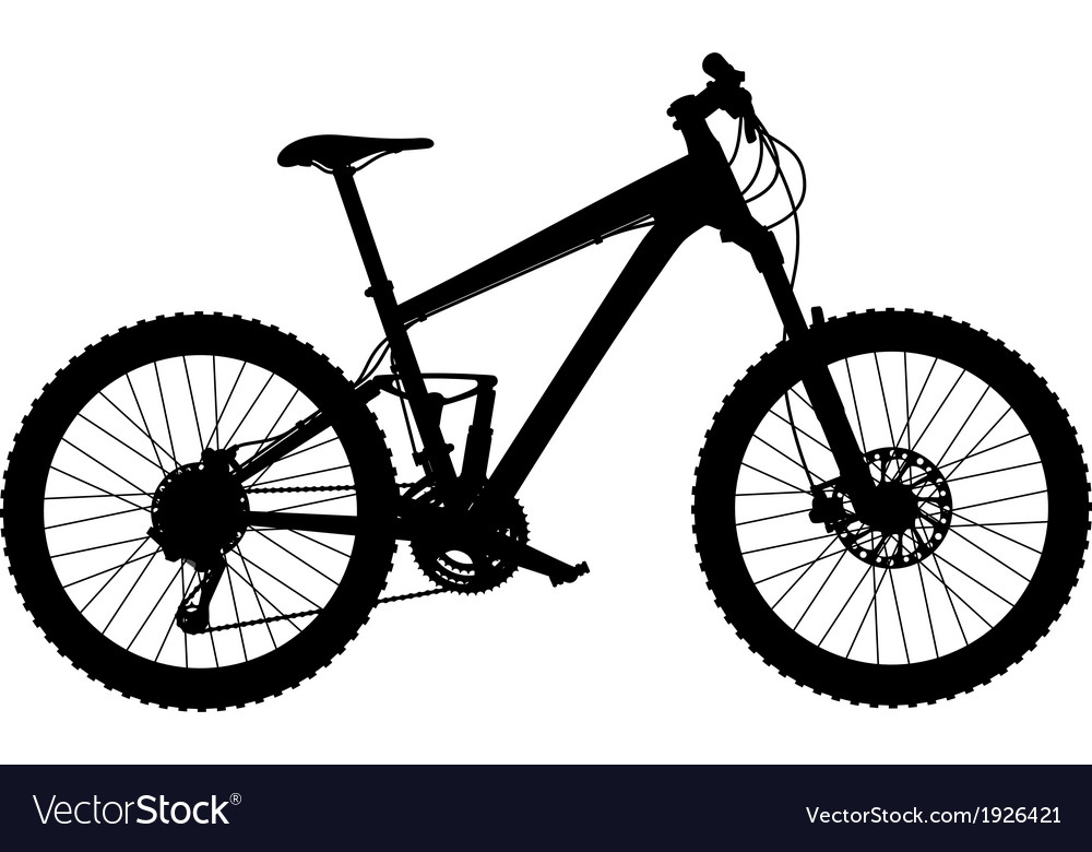 Mountain bike full suspension Royalty Free Vector Image