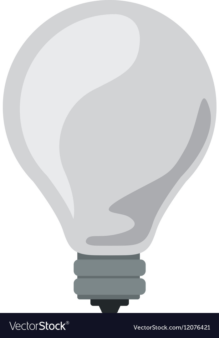 Silhouette Light Bulb Off Icon Royalty Free Vector Image