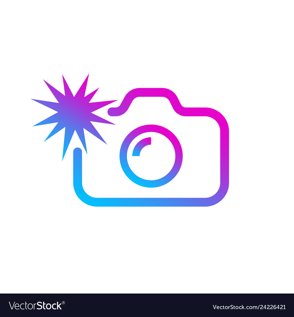 Social media modern digital camera icon symbol vector