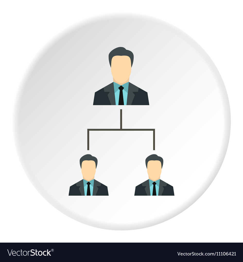 Team of employees icon flat style