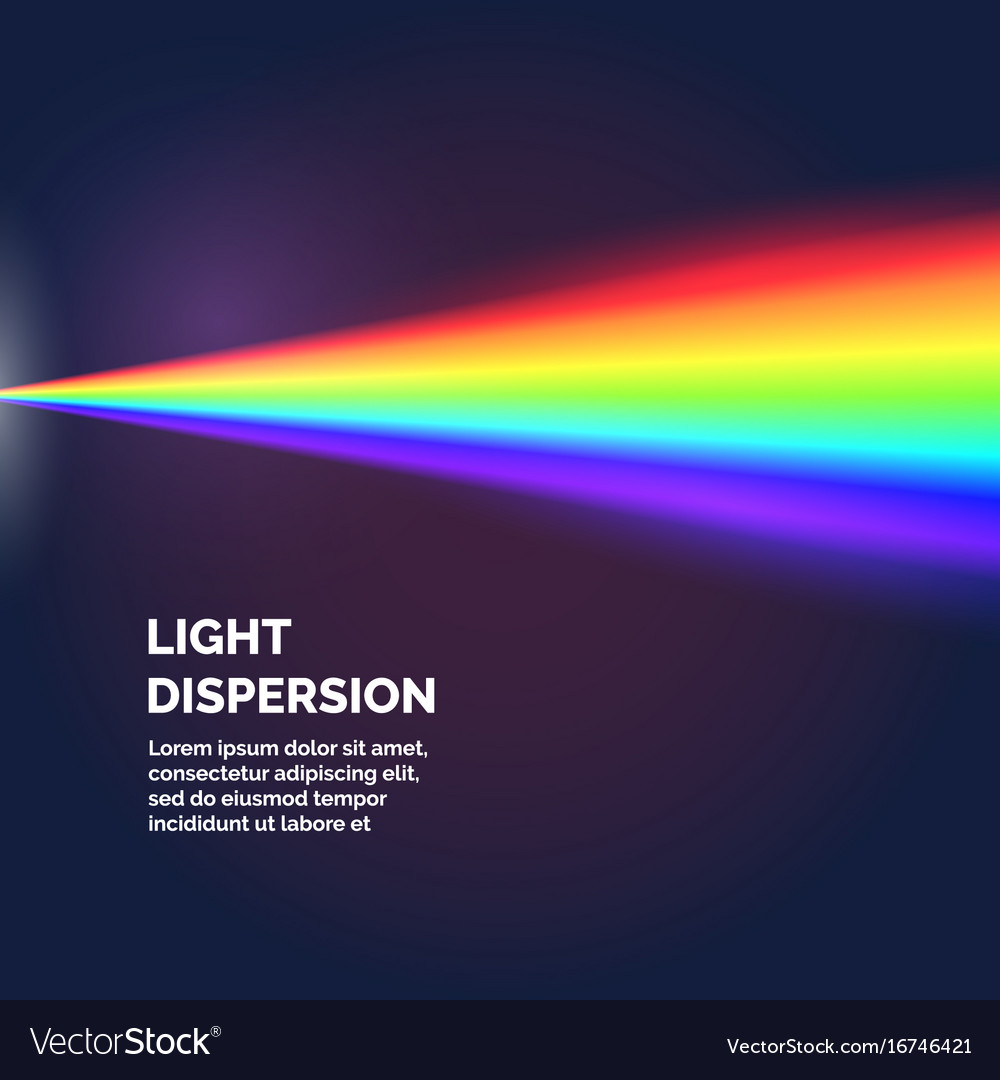 The light dispersion background with rainbow