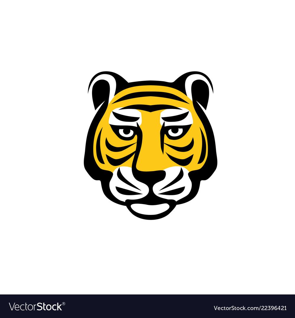 Tiger head logo concept