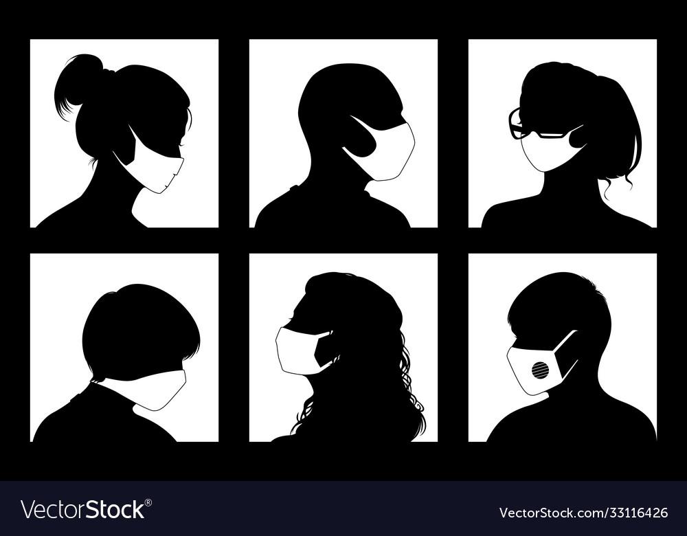 Avatars in medical masks