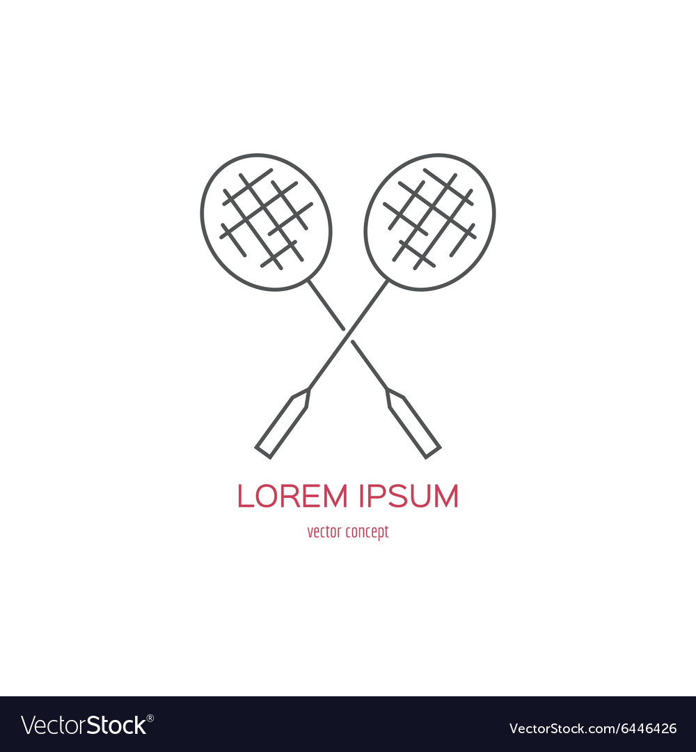 Badminton Logo vector image