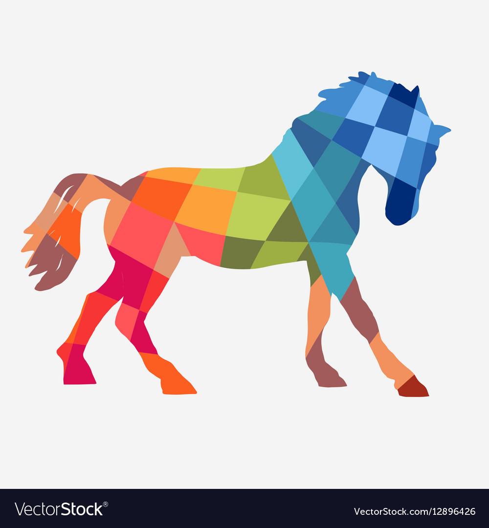 Horse geometric shapes