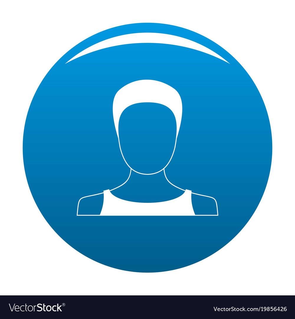 Man user icon blue