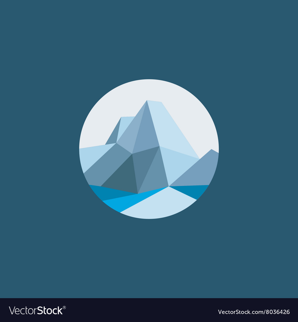 Mountain polygon in the low poly-style