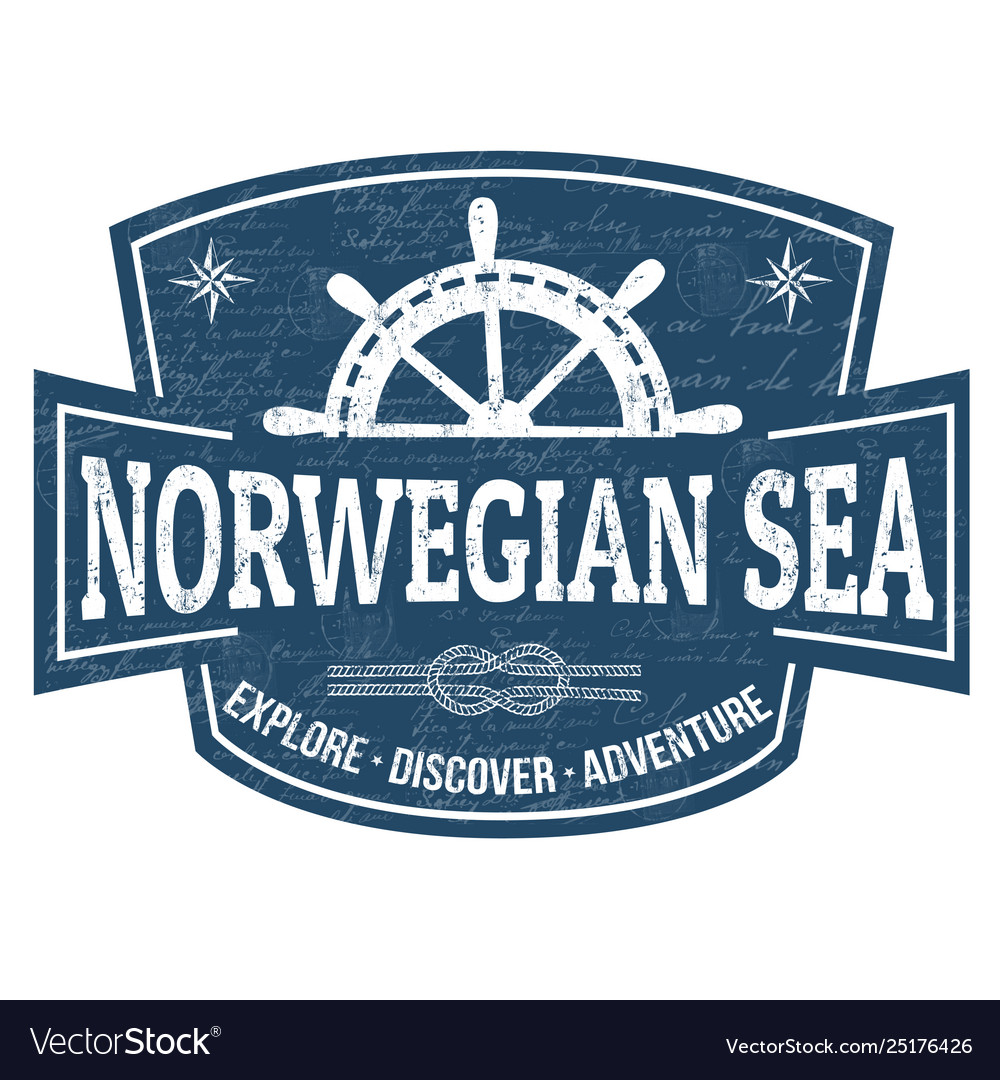 Norwegian sea sign or stamp