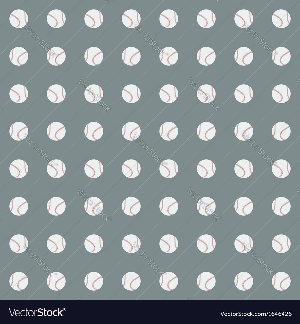 Seamless pattern with baseball balls