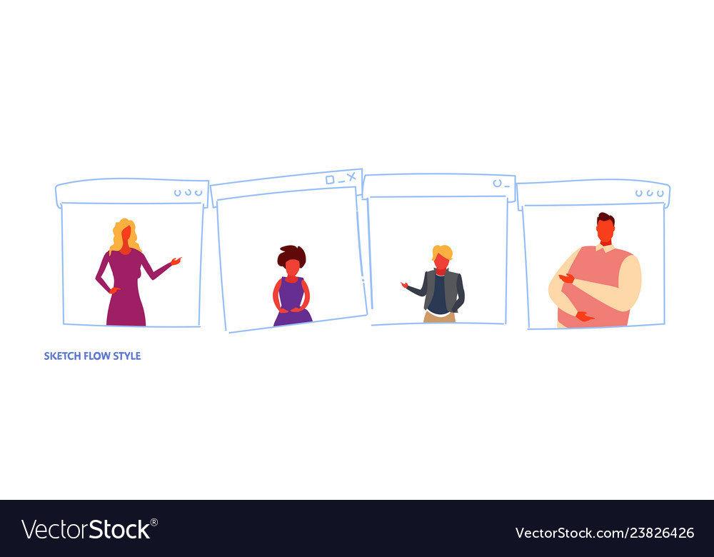 Set different people family members casual men
