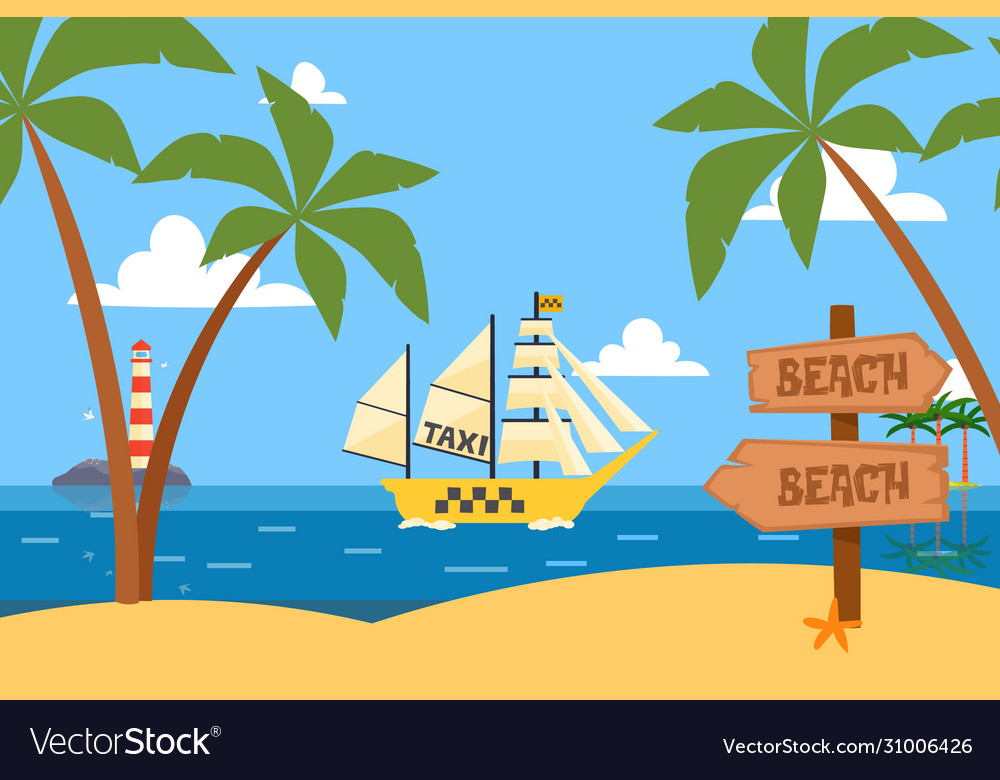 Ships in bottle ocean tropical taxi service