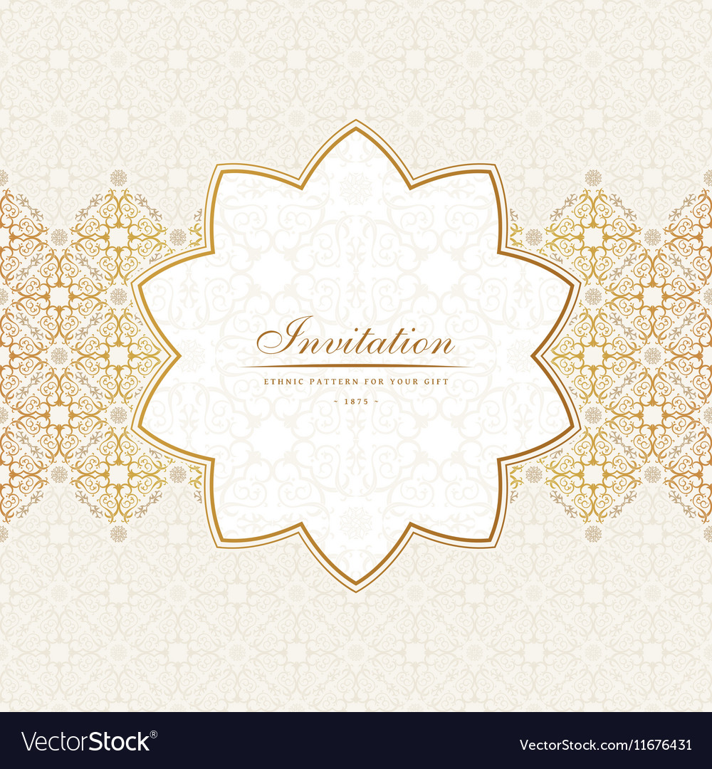 Banner islam ethnic design invitation royalty free vector banner islam ethnic design invitation vector image stopboris Images
