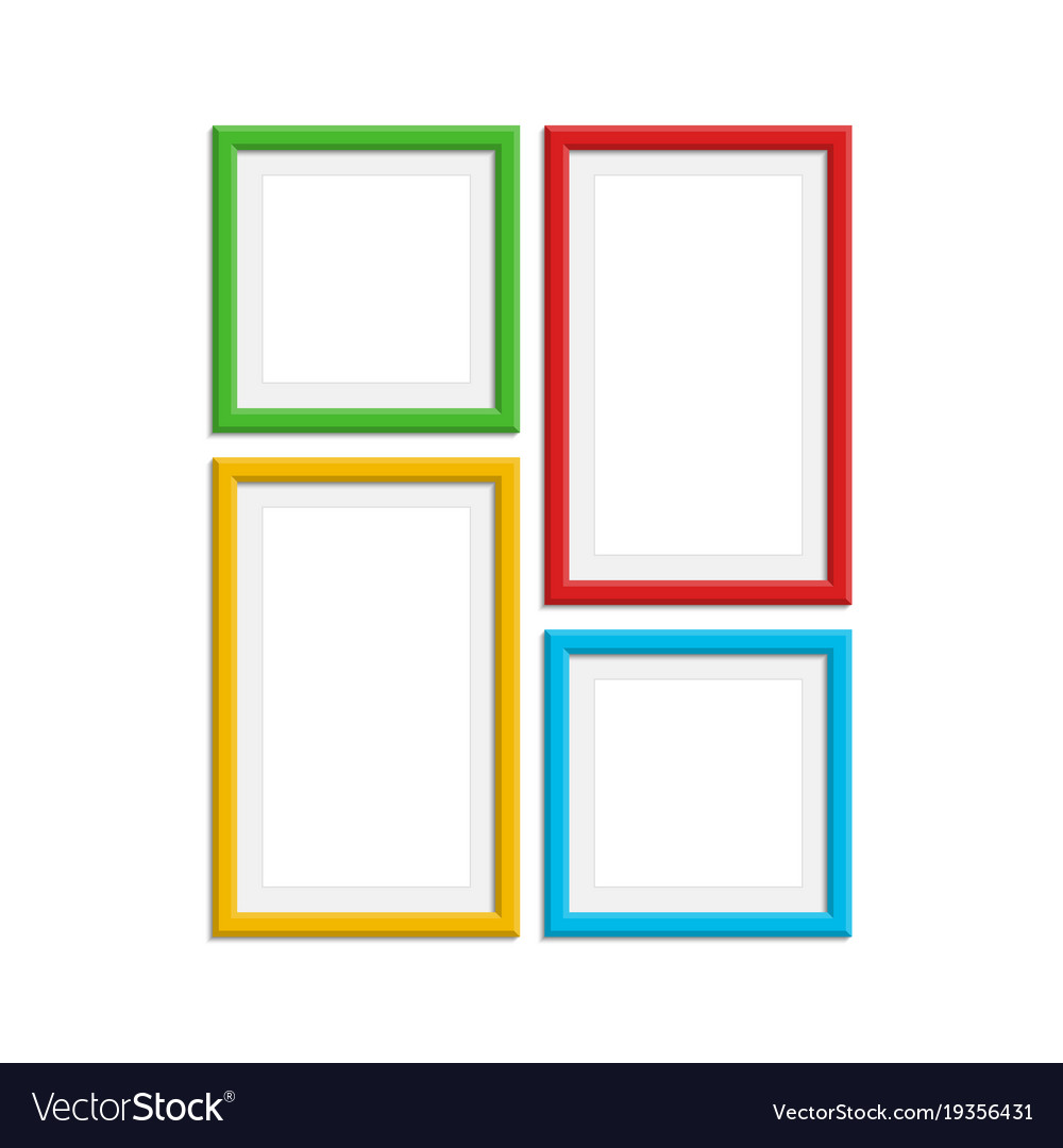 Colored photo frame set