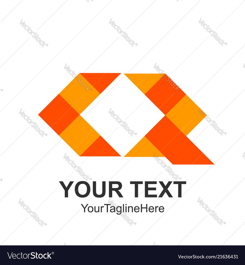 Creative abstract geometric square logo design