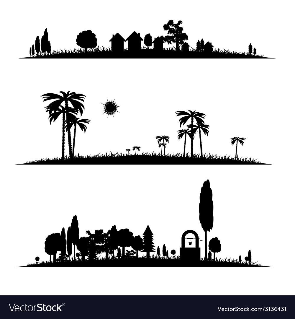Different landscape vector image